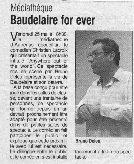 Le Dauphiné Libéré - Mai 2007