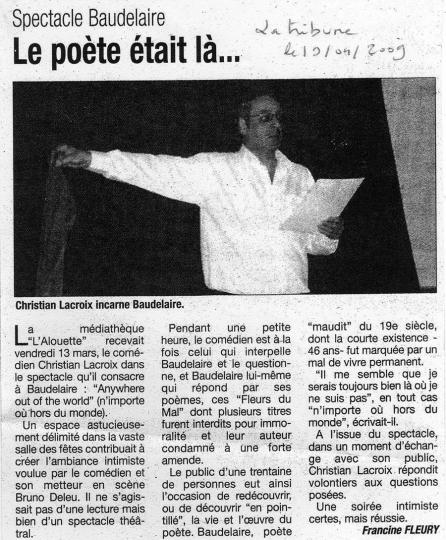 La tribune - 19/04/2009