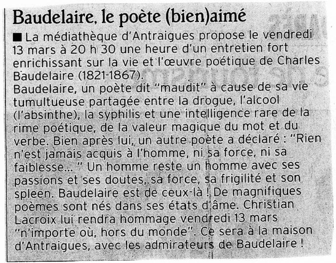 Le Dauphiné Libéré - 10/03/2009