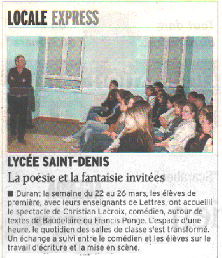 Le Dauphiné Libéré - 28/03/2010